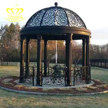 High quality European style custom outdoor garden decor metal craft New product iron dome gazebo for sale
