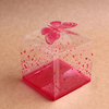 custom clear plastic PET favor boxes for wedding favor gift