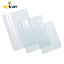 Custom A4 transparent clear stretchable plastic pvc book covers for school