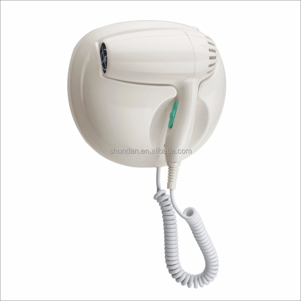 2017 Wall Mounted Professional Hotel Bathroom Hair Dryer No Hair Wound