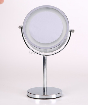 7 Inche Make Up Mirror Table Top Magnifying Lamp Parts With 16 Led Lights And