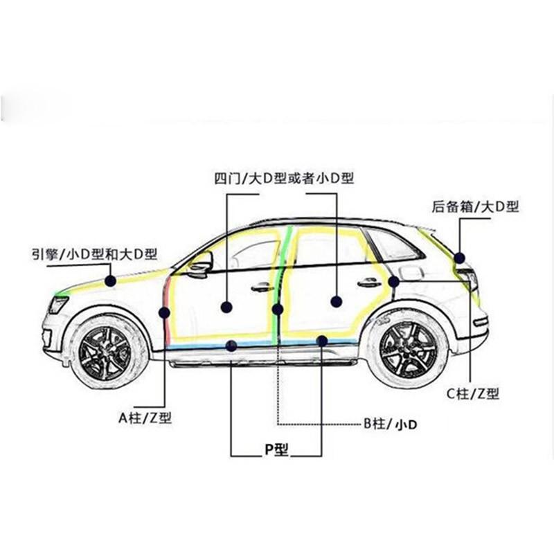 D Shape 4m Genuine Adhesive Car Rubber Seal Sound