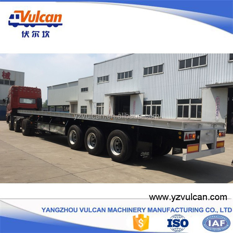 Shipping 20ft 40ft container flatbed trailer for tractors