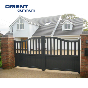 Aluminium Swing Contemporary Gate House Gate Grill Designs Gate For Boundary  Wall With Electrical Motor