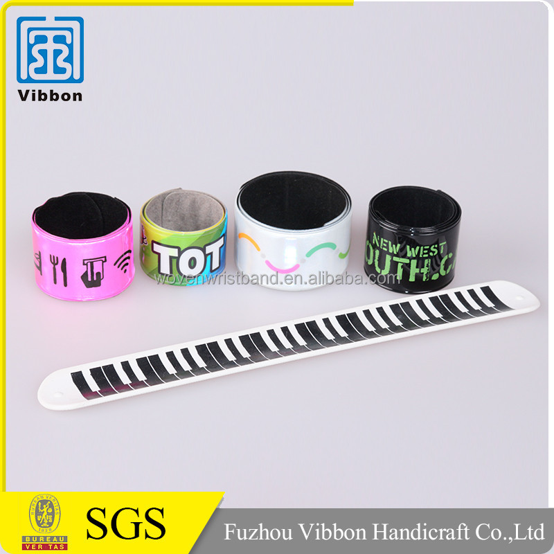reflective slap wristbands with steel plate for event