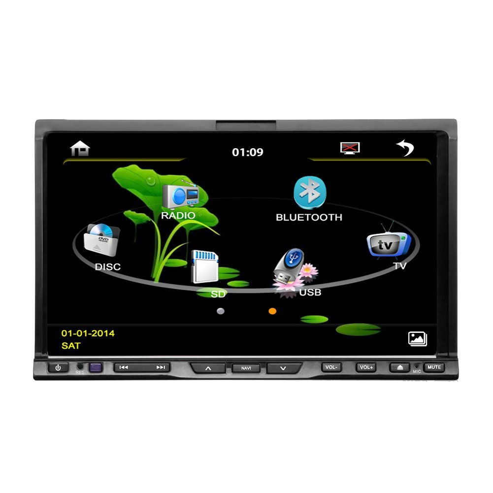 EinCar AUX Double din HD Touch Scree Car DVD MP3 CD Video Player in dash Car Universal Radio FM AM RDS Stereo CD Audio Bluetooth Frame Double 2 DIN Autoradio VCD 2DIN