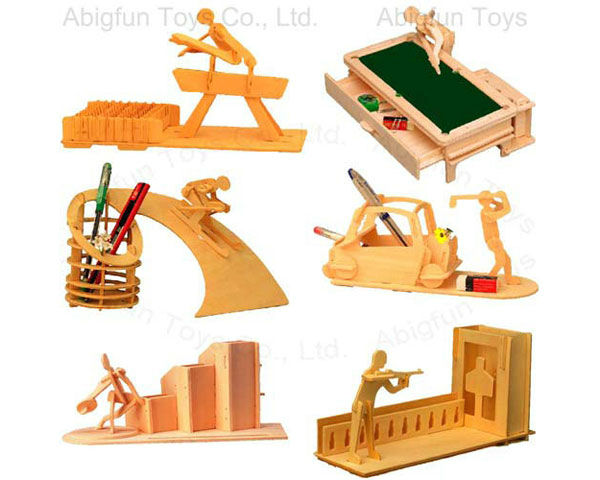 wood craft kits, woodcraft penstan 3d wooden puzzle