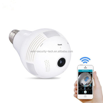 2.0MP 1080p Lamp led lighting bulb CCTV Camera 360 degree wifi IP cam with good night vision