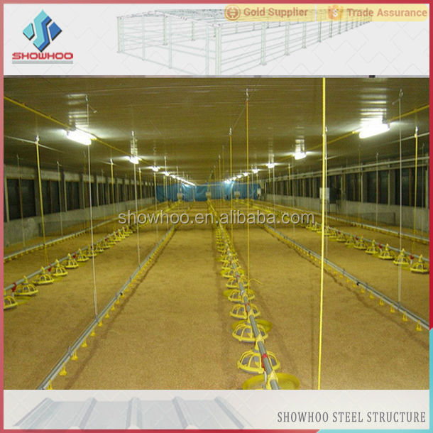 Commercial Chicken House steel structure poultry farm commercial chicken houses design