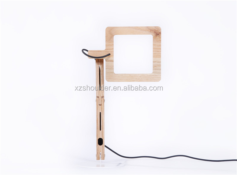 OEM solid wooden lamp Touch switch dimming led bedside reading lamp