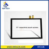 17 Inch 10 Touch Points Projected Capacitive Touch Screen with USB Controller
