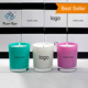 China Factory Wholesale Plating glass candle holder, Candle jar/container for wedding