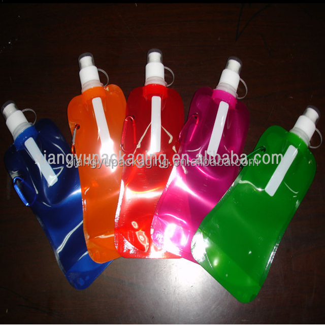 BPA FREE Reusable Sports Roll Up Water Bottle