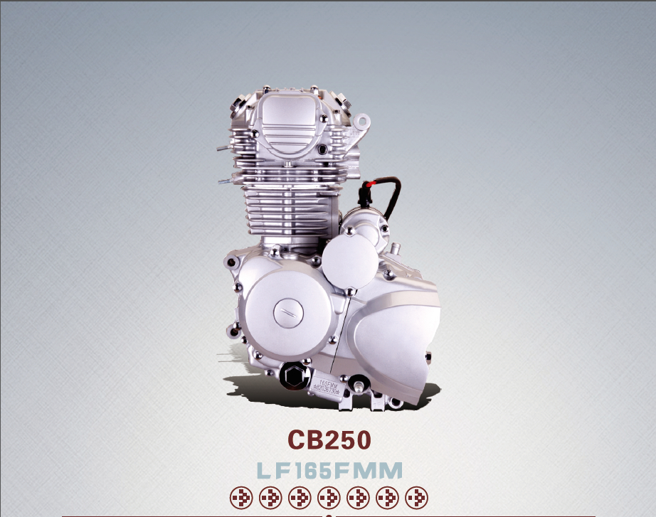 Lifan Motorcycle Engines Air Cooled 4 Stroke Cb250 250cc Engines ...