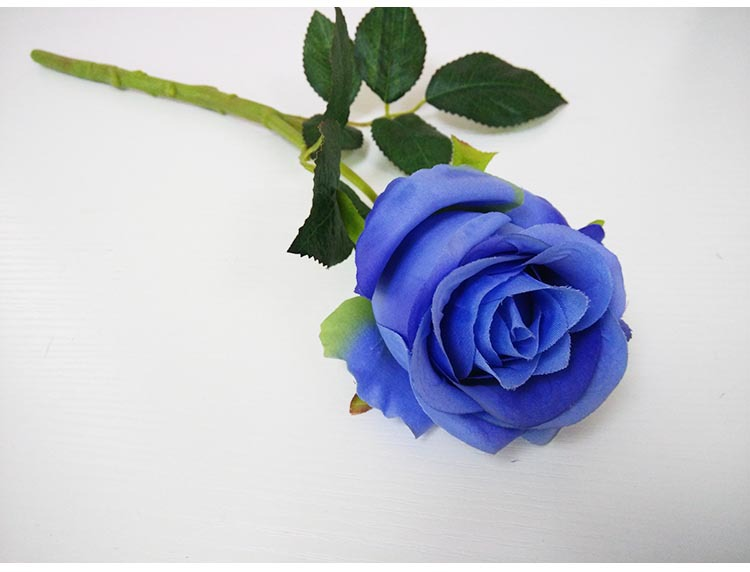 blue artificial single rose flowers for sale buy
