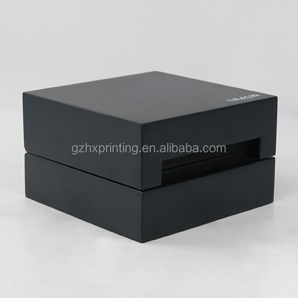 Wholesale High Quality Black Matte Wooden Watch Box With T Hinge