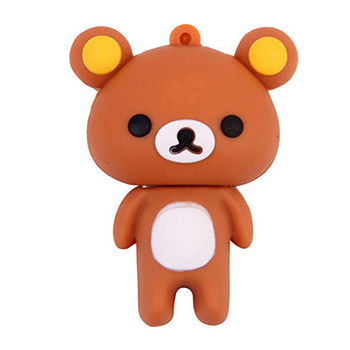 16GB Bear Silicone USB 2.0 Flash Pen Drive Memory Stick Water WeatherProof