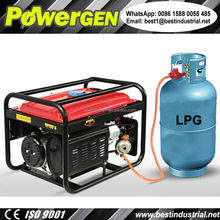 Best Seller!!! POWERGEN Home use Portable Air-cooled Tri-Fuel Gasoline/LPG/Natural Gas Generator 3KW