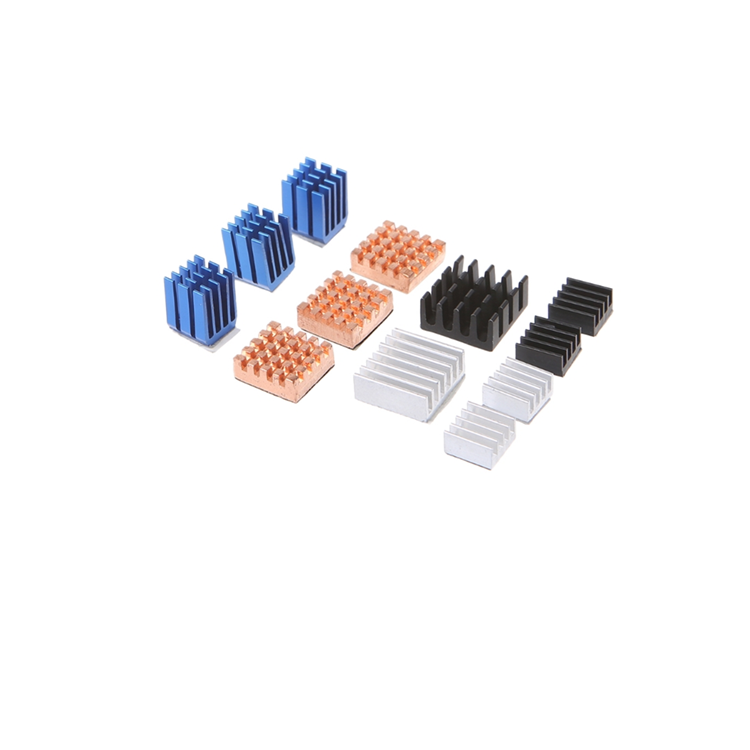 Smart aluminum heat sink cooler copper radiator Kit cooler for Raspberry Pi 2/3
