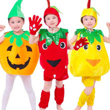 5pcs lot Free Shipping Fruit Vegetable Plants Design Kids Boys Girls Stage Show Carnival Clothes font