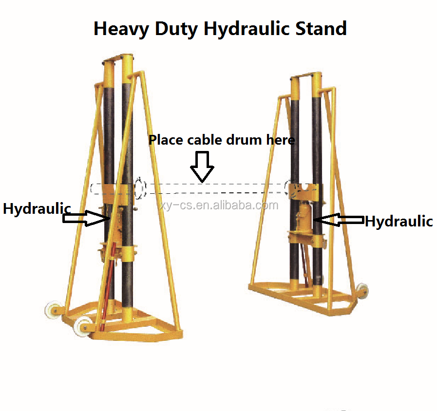 20t Cable Drum Stand With Hydraulic Lifting Jack Buy 20t