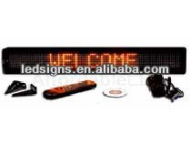 Hidly wholesale 7x80 DC12V red car led message sign display