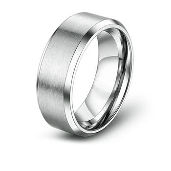 7d34d83120c Mens simples Polido Ampla Aliança de Casamento Anéis De Aço Inoxidável Nome
