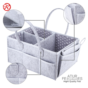 wholesale Felt Baby Diaper Storage Caddy Organizer and felt baby diaper bag with changing pad