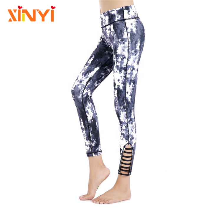 Dri Fit Schlankes Training Leggings Stretch Bauch Kontrolle Sport Laufen Digital Gedruckt Sublimation Recycled Yoga Hosen Frauen