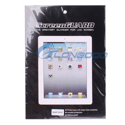 Clear LCD Screen Guard Ward Flim Protector for iPad Mini