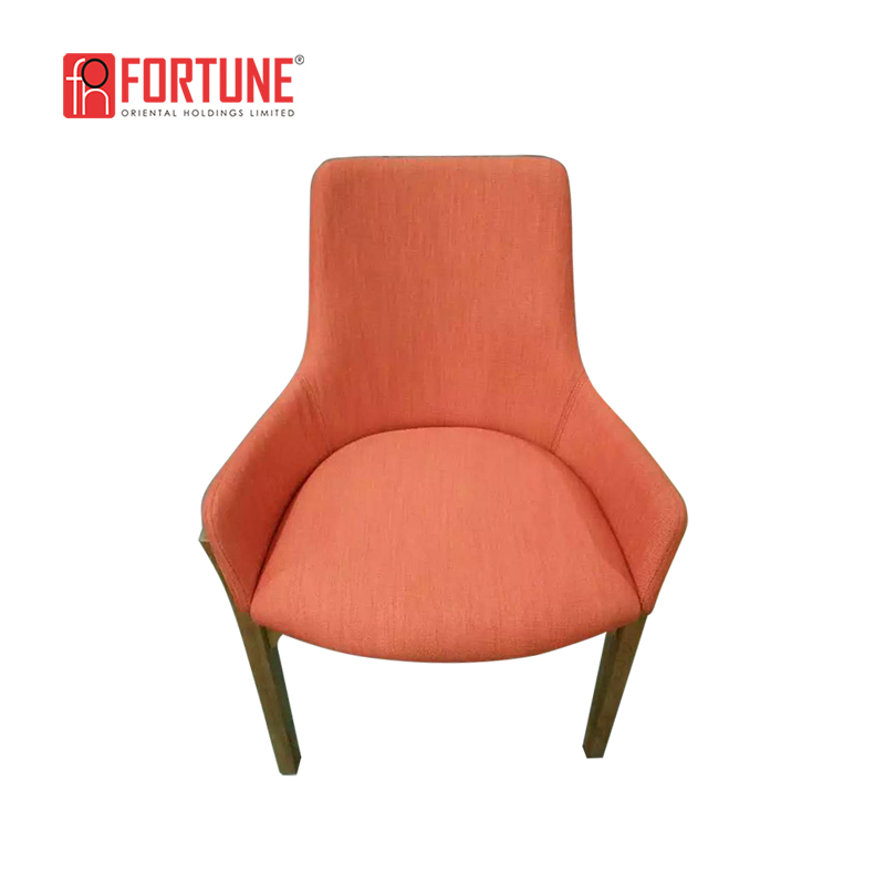 nice design fabrc dining chairs with solid wood leg unique restaurant furniture FOH-17030Y