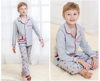 b0a8cb15af Small MOQ Latest 100% Cotton Winter Pajamas Fashion Cute Boys Woven Long  Sleeve Sleepwear Printed