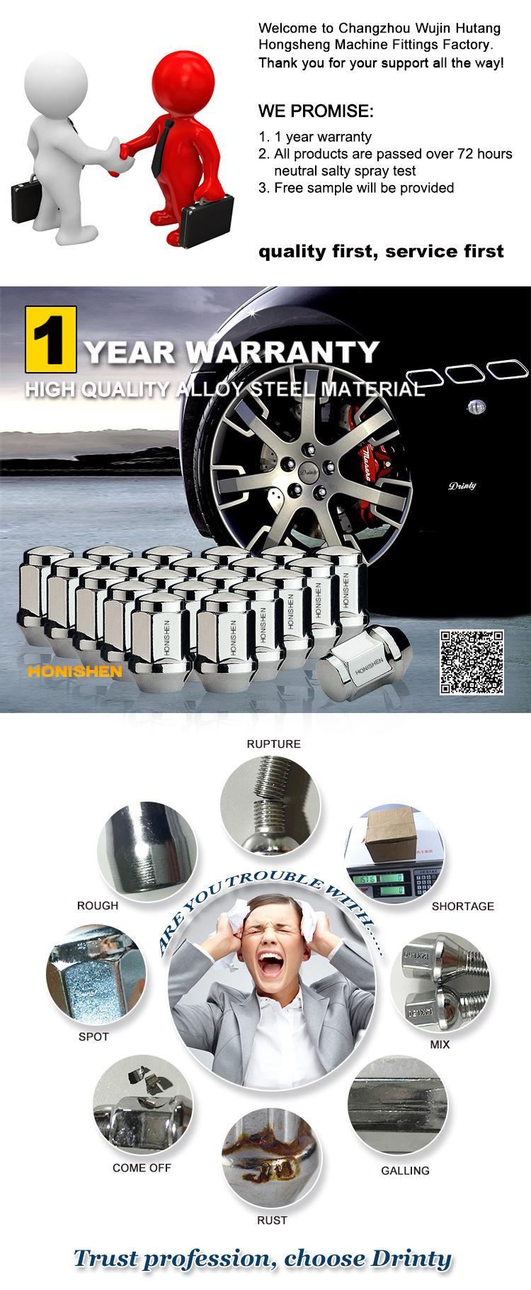 19mm hex chrome auto lug nuts wheel nut