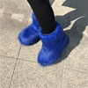 2019 Customized Winter warm Snow monster faux fur boots for women