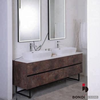 Curved Wooden Bathroom Vanity