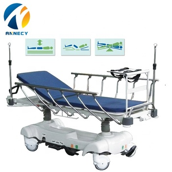 AC-ST005-1 foldable iv pole luxurious hospital hydraulic stretcher patient trolley specification prices