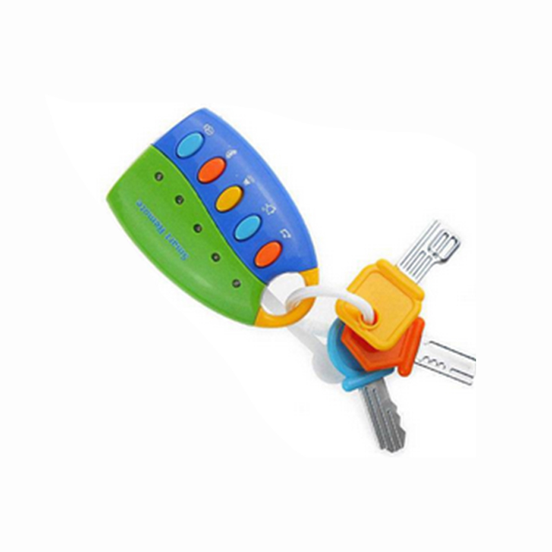 Baby Early Educational Toy - Children's Simulation Remote Control Car Key with Music & Lighting Function