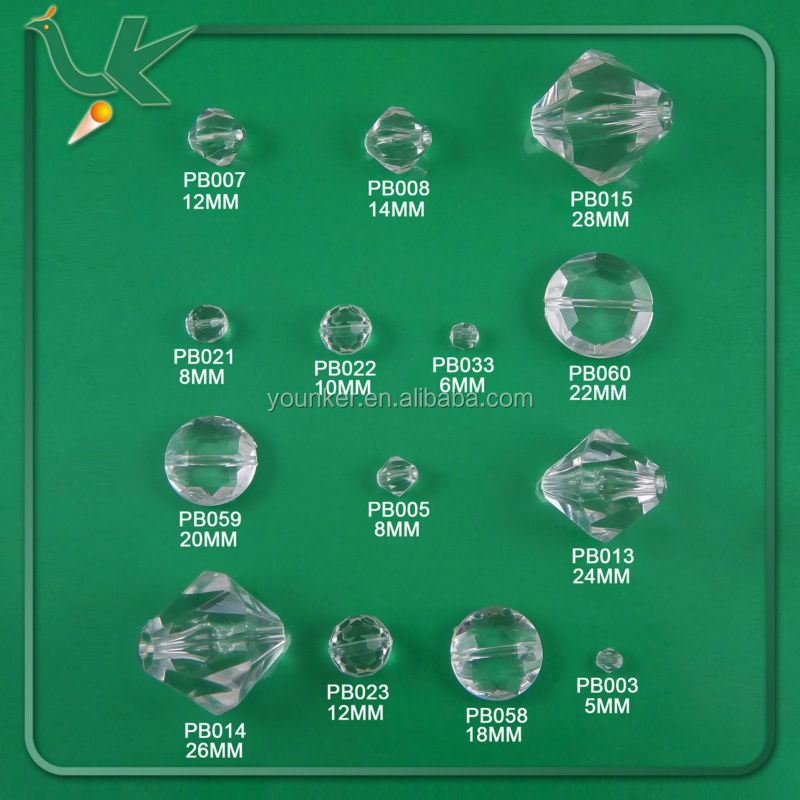 Wholesale Cheap Clear Plastic Beads