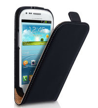 Brand New Genuine Mixed Color Ultra Slim Real Leather Flip Case Cover for Samsung Galaxy S3 Mini I8190