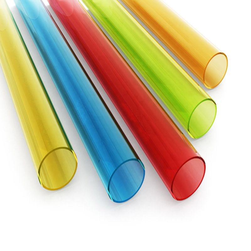 Round Color Clear Polycarbonate Plastic Tube /Transparent Polycarbonate Pipe