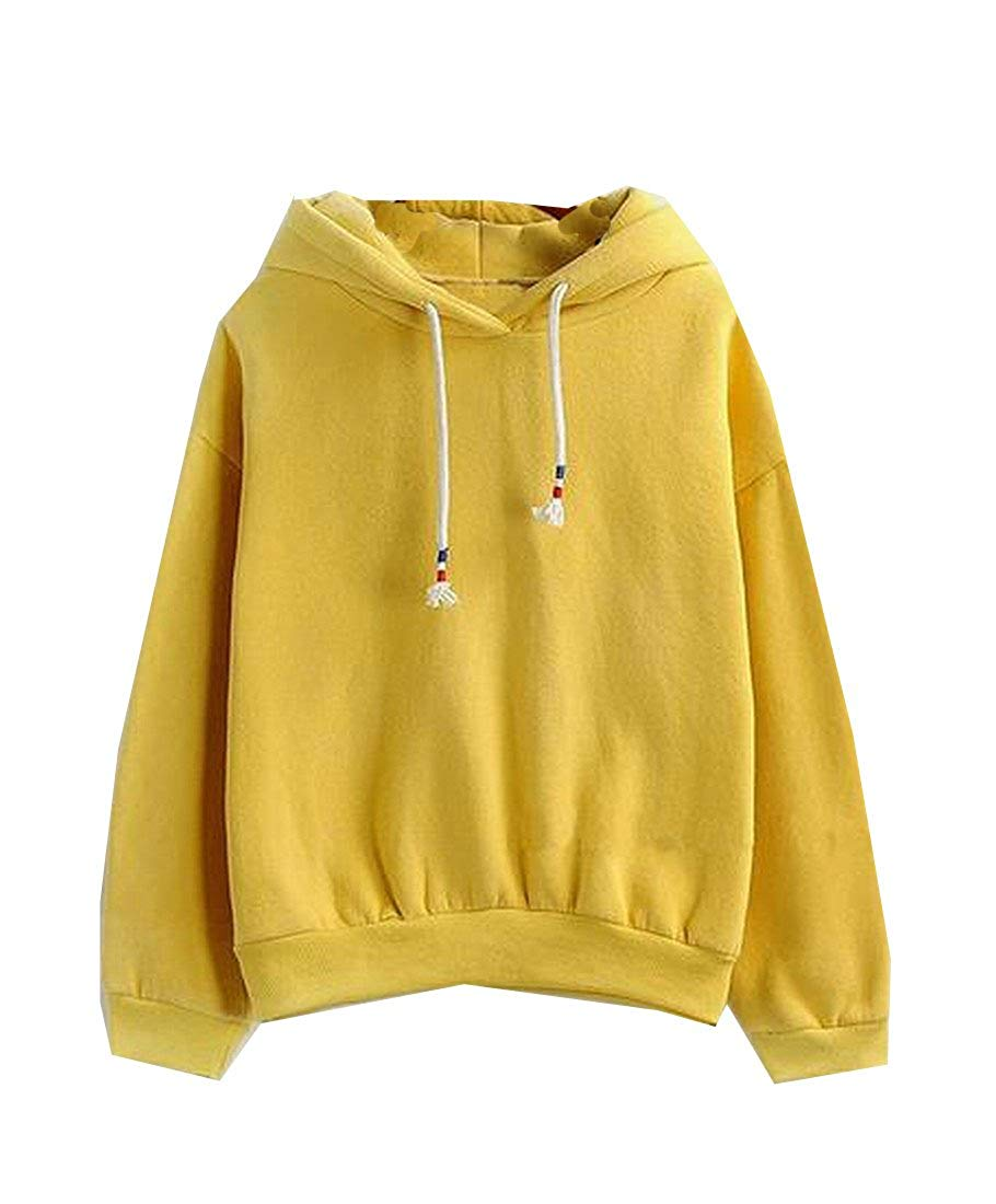 Coolred Womens Hooded New Style Drawstring Pullover Hoodie Top