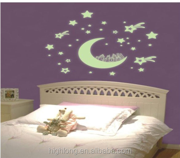 Fashion living room decor 5d wall stickers glow dark for Room decor 5d