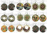 $ 67.71 USD KWLL09069 Wholesale lot of 25 pair Disc Earrings Indian Jewelry