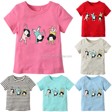 Cartoon <span class=keywords><strong>prinses</strong></span> meisje korte mouw baby tee shirts
