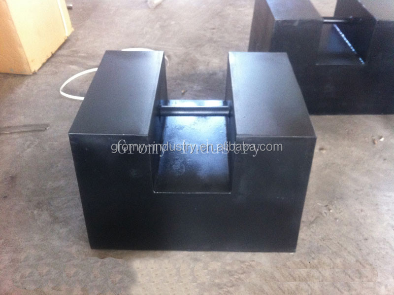 Cast Iron Weights Rectangular Test Weights 500kg Calibration Weights