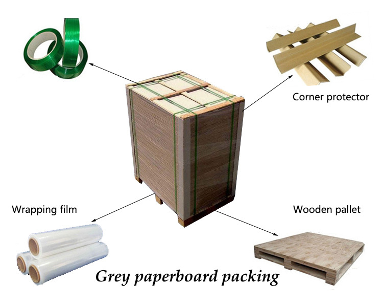 AA grade industrial grey carton paper roll