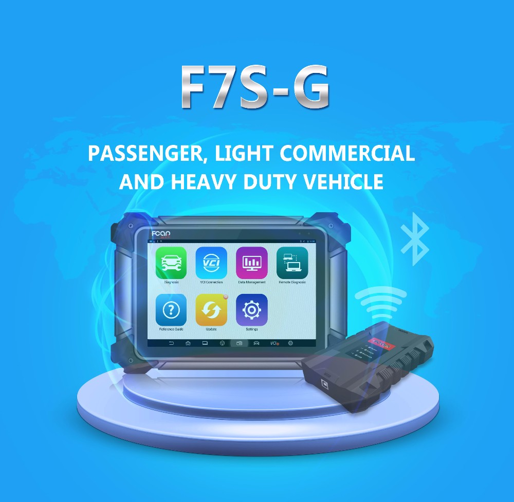 Hot sale F7S-G Scan Global Car and Truck engine tester  analyzer auto diagnostic tool car