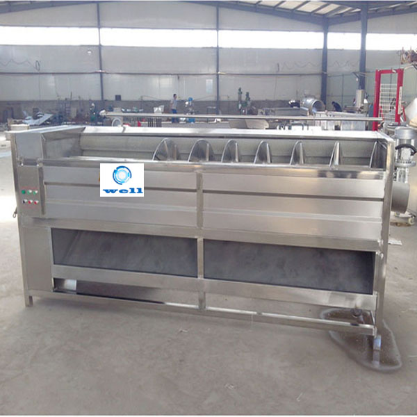 High Efficiency brush type industrial automatic fruit vegetable cassava carrot taro kiwi used potato peeling machine