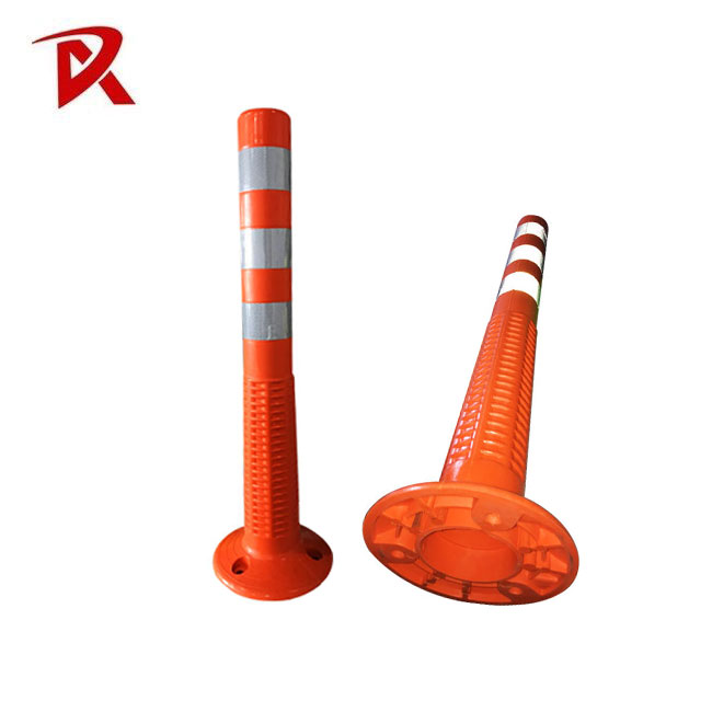 PU Reflective Flexible Post Spring Bollard for Road Use