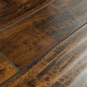 Dark Brown Distressed Wood Laminate Flooring